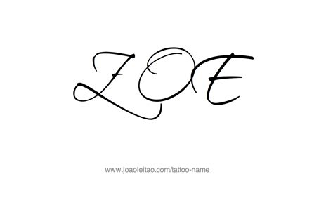 zoe tattoo designs zoe name designs