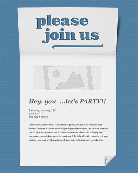 email template card email event invitation template