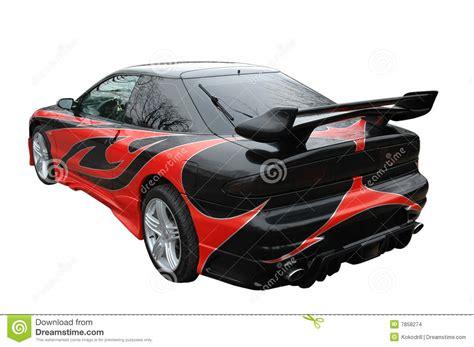 si鑒e auto sport black rode en zwarte moderne sport auto stock foto afbeelding