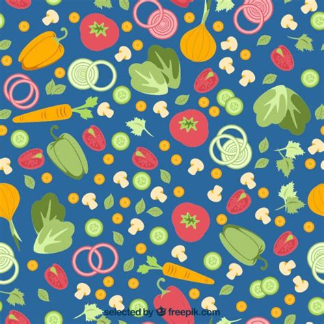 new year pattern ai colorful vegetables pattern vector free