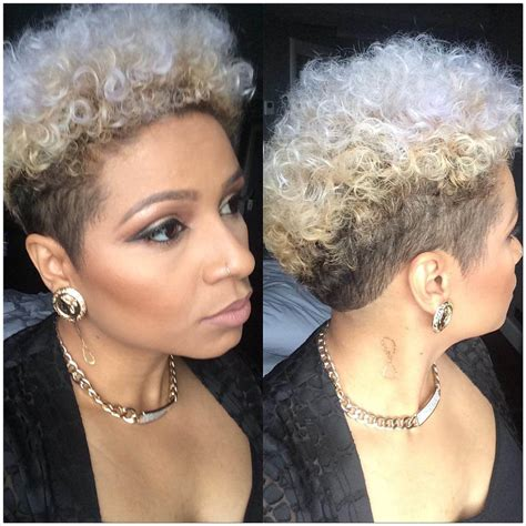 natural tapered bob two colored tapered hairstyle for natural hair