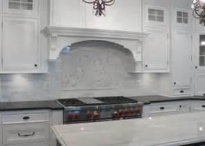 Marble Kitchen Backsplash Design White Marble Backsplash Someday Kitchen Ideas Pinterest