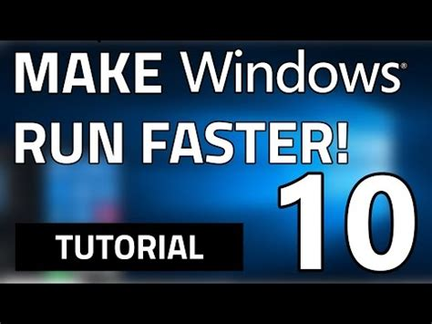 windows 10 tutorial for tablets how to make your windows 10 pc tablet faster in 5 simple