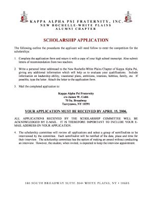 Letter Of Recommendation Kappa Alpha Psi fillable nrwp scholarship letter application