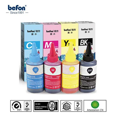 1 Set Tinta Dye Ink Korea Compatible Refill Printer Hp 100ml Cair Cmyk color dye ink refill ink for hp canon printer ink