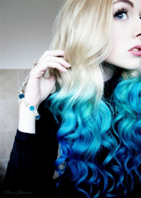 blue hair ultimate teal ombre hair color mermaid hair color set