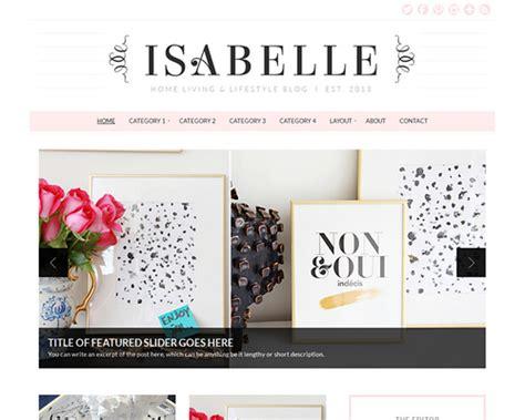 wordpress themes lifestyle blog isabelle home living lifestyle wordpress theme