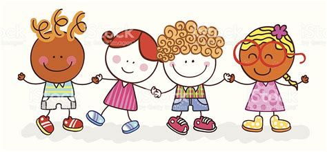 imagenes de niños felices animados ni 241 os felices amigos sosteniendo las manos ilustraci 243 n de