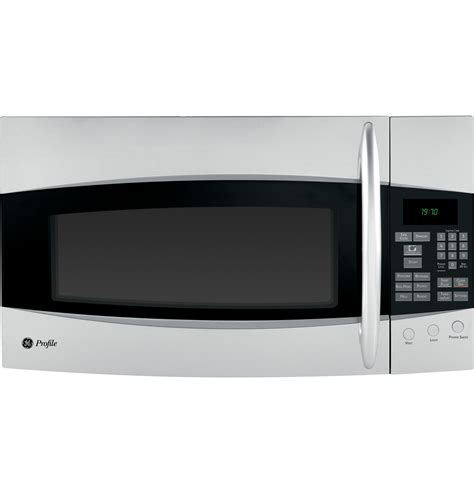 ge profile microwave ge profile spacemaker 174 1 9 cu ft the range microwave oven with recirculating venting