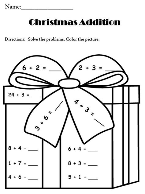 free printable christmas math coloring pages math