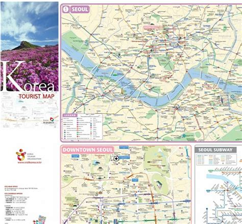 seoul map tourist attractions korea tourist map new zone