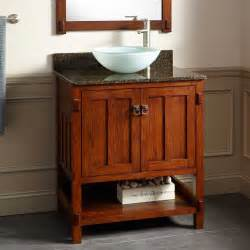 30 Quot Harington Oak Vessel Sink Vanity Bathroom Bathroom Cabinets With Sink