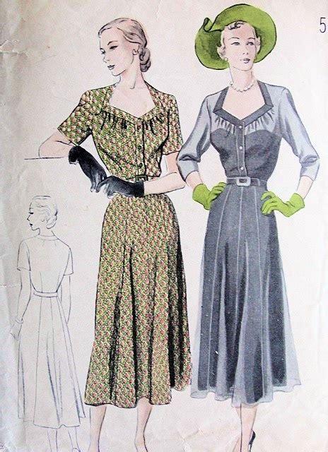 diamond pattern vintage blue dress 1940s dress pattern lovely diamond shape neckline