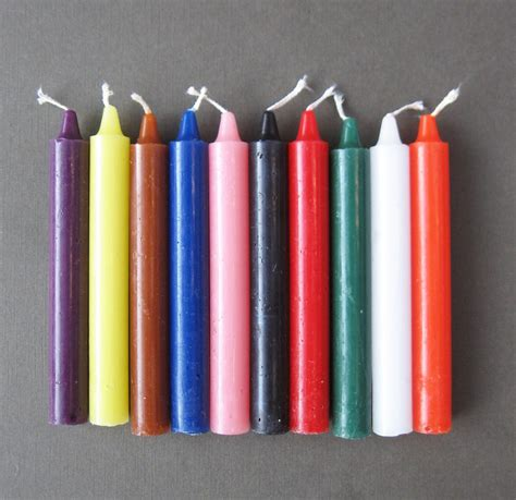 color candles single 6 quot taper spell candle choice of 10 colors magic