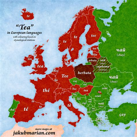 how do you say in german 42tea how do you say tea in other european languages