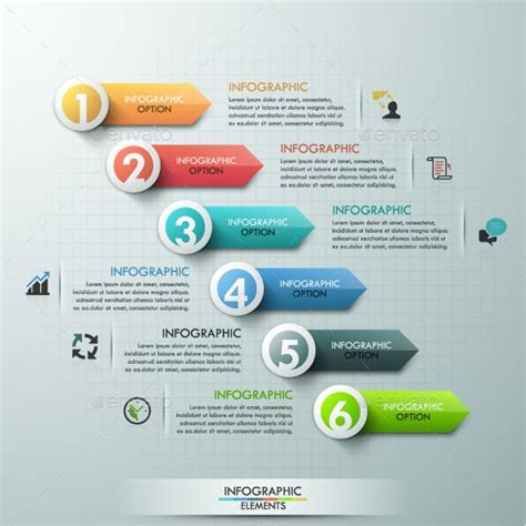 graphic design graphic design 2 part 1 modern infographics paper arrows template 인포그래픽 ui 및 그래픽