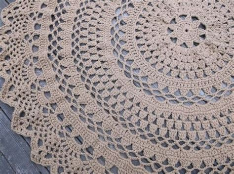 crochet area rug patterns for crocheted area rug made large crochet cotton doily rug in 60 quot circle