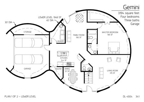 dome home plans two floor round home with garage alternative homes