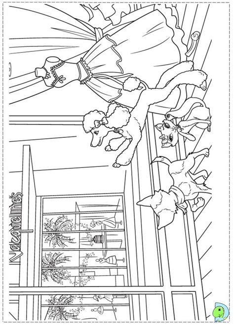 barbie fashion fairytale coloring pages for kids dinokids org