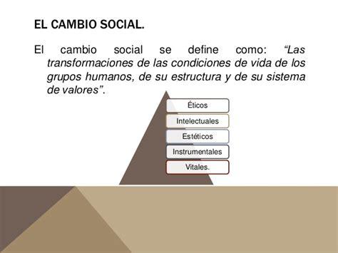 el cambio de el progreso y el cambio social
