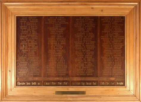 index  memorial board names hornsey historical society