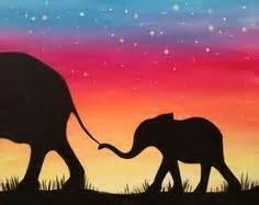 paint nite elephant elephant sunset at nellie s sports bar paint nite idea
