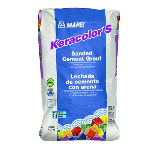 mapei keracolor 25 lb silver sanded grout 22725 the home depot