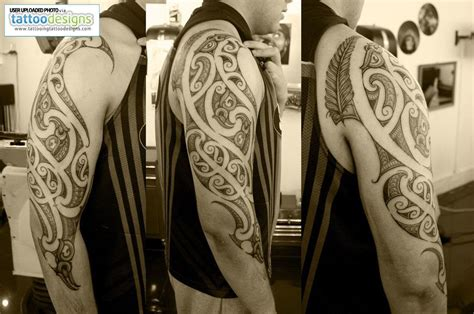tattoo three quarter sleeve custom new zealand maori ta moko three quarter kirituhi