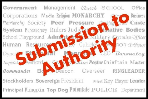 submission  authority   gag reflex commonsense christianity