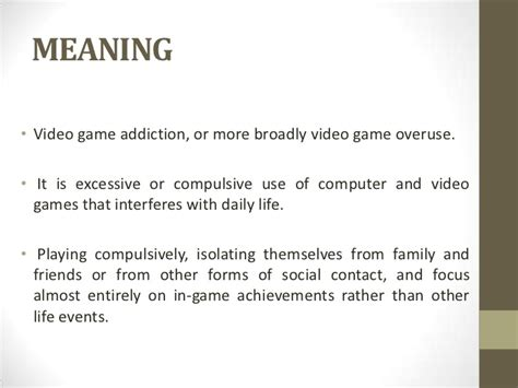 Detox Symptoms And Meanings computer gaming addiction