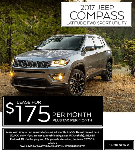 jeep car lease new car lease specials normandin chrysler dodge jeep ram