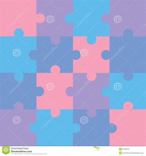 jigsaw pattern vector puzzle royalty free stock photos image 4159318