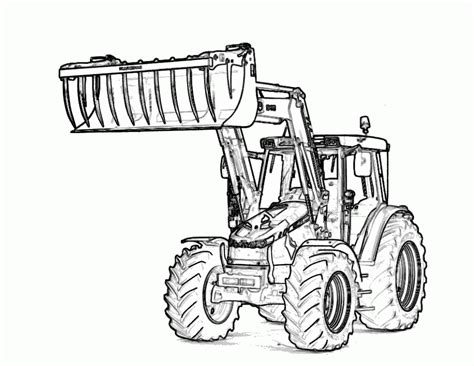 combine tractor coloring page free printable tractor coloring pages for kids