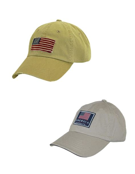 cotton classic american flag baseball caps pack of 2 by