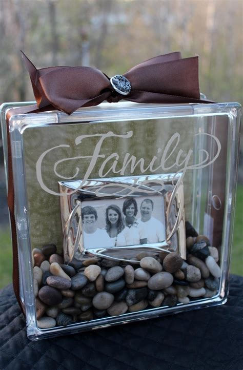 Glass Block L Ideas by Diy Clear Glass Block With Family Pic Inside Diy