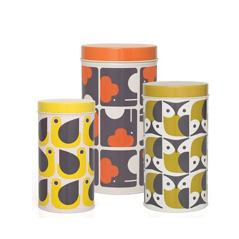 Kitchen Storage Canisters Sets by Orla Kiely Animals Set Of 3 Storage Canisters Jarrold