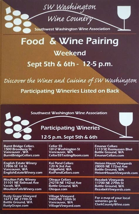 Website Of The Week Food Pairing by Southwest Washington Wine Association Labor Day Food And