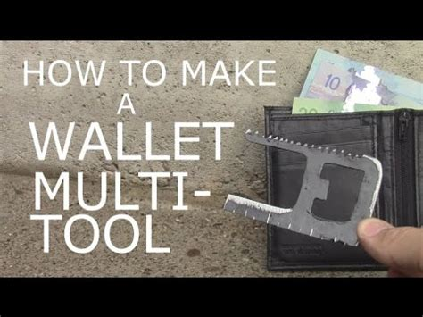 how to make a multi tool how to make a wallet multi tool