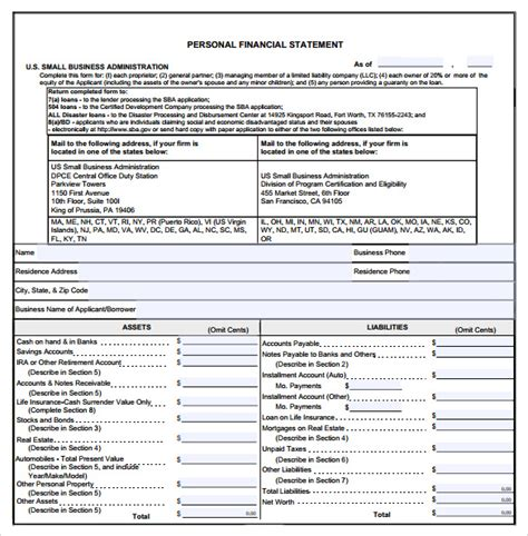 real estate financial statement template sle business financial statement form 6