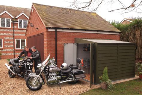 Motorbike Sheds Uk by Motorbike Sheds And Secure Motorcycle Garages For Home Storage