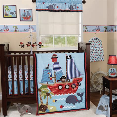 Bedtime Originals Treasure Island Collection Baby Boy Crib Bedding Set