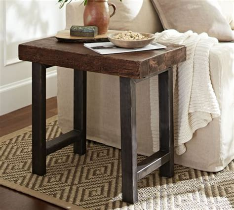 griffin reclaimed wood side table griffin reclaimed wood side table pottery barn