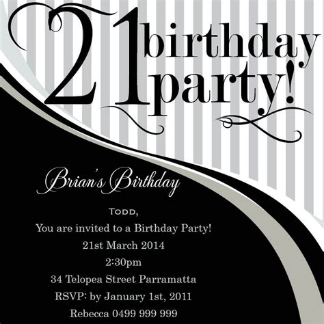 Top 14 21st Birthday Party Invitations Theruntime Com 21st Birthday Invitation Templates