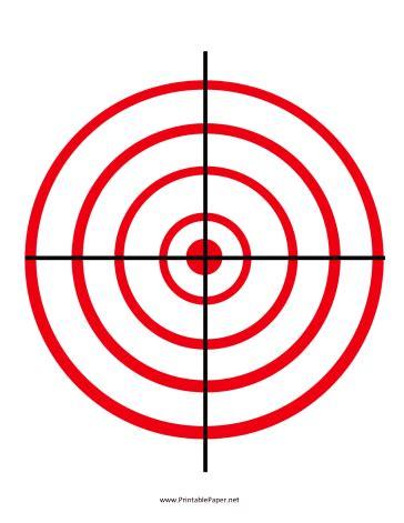 printable marksman targets printable red circles target