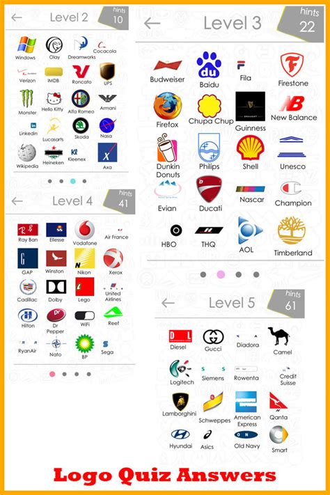 logo symbols quiz all logos 88 logos quiz answers