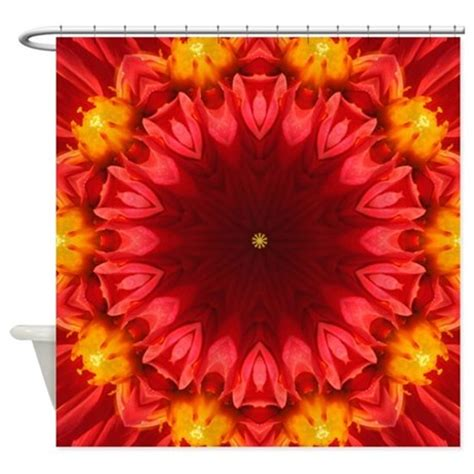 yellow and red curtains red and yellow floral abstract 157 shower curtain by