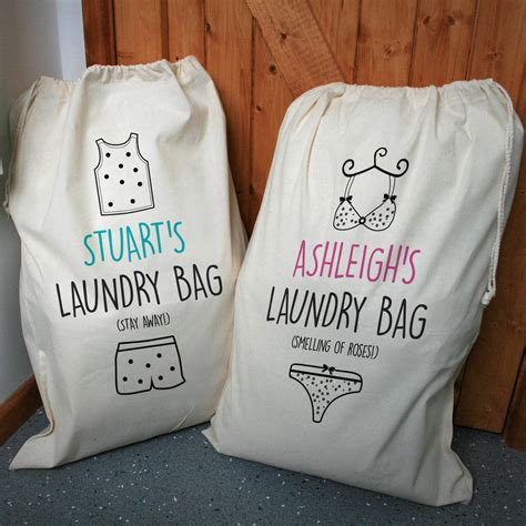 Set Laundry Bag personalised his and hers laundry bag set by a type of