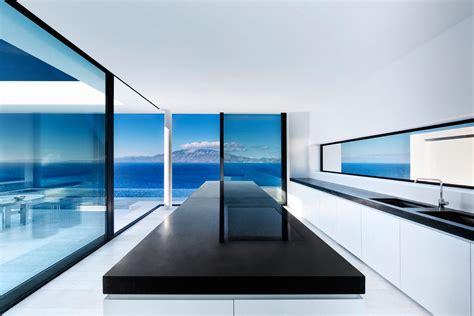 minimalist greek villa  dramatic ocean  island view idesignarch interior design