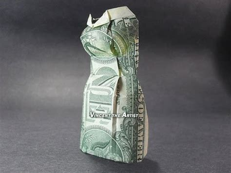 Dollar Bill Origami Dress - money origami dresses dollar bill