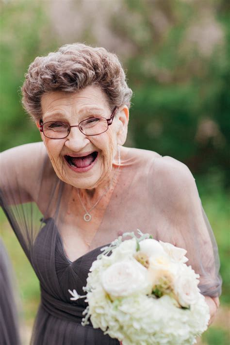 den skirts for 47 yr old this bride asked her 89 year old grandma to be her bridesmaid